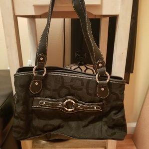 Black Rosetti Shoulder Bag